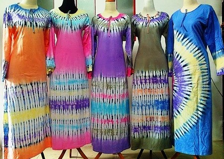 Obral Daster Lengan Panjang Long Dress Tegal Gubuk