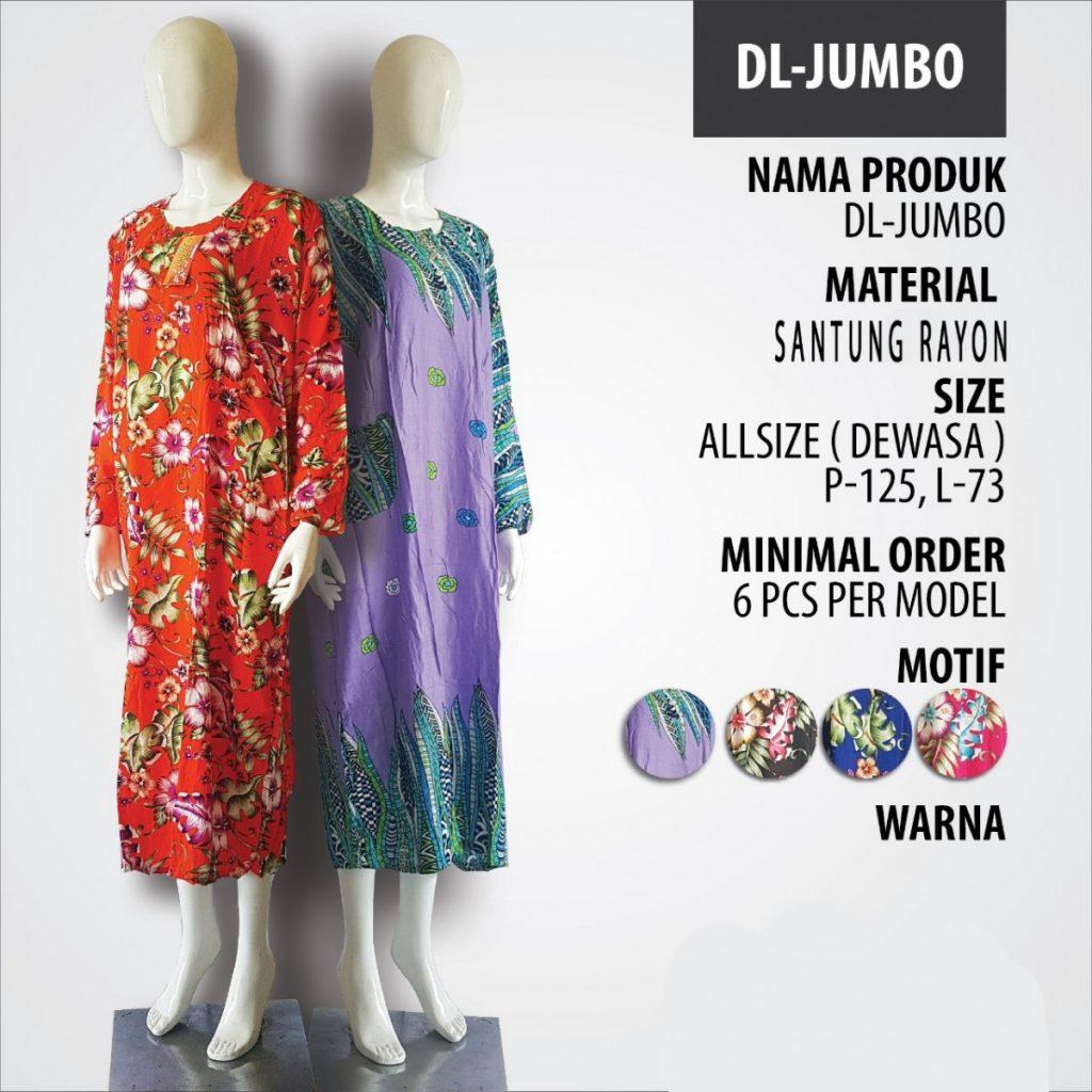 Obral Baju Daster Batik Murah 18ribu Supplier Daster DL Jumbo Murah